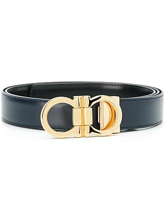 Salvatore Ferragamo double Gancio buckle belt - Blue