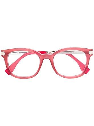 Fendi Armação de óculos quadrada - Rosa