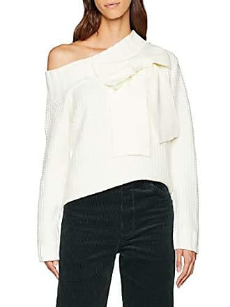 c3fe9c05a72e1 Lost Ink. One Shoulder Bow 3D Jumper, Pull Femme, (Off White 0009