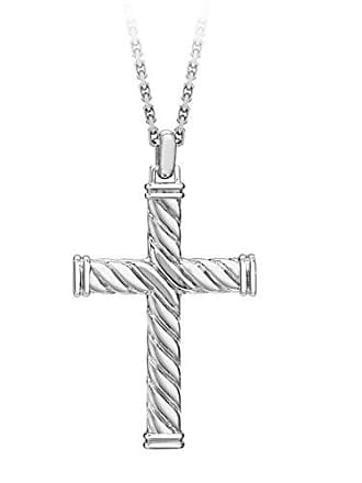 Hoxton London Herren Sterling Silber Gedrehtes Kreuz Verstellbare Kette 51  - 55cm 28eb279534