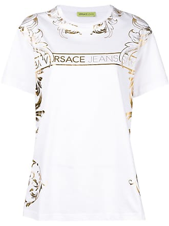 4b90833189c Versace Jeans Couture baroque logo printed T-shirt - White