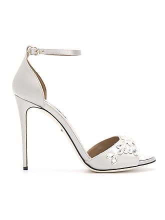 Dolce & Gabbana Sandália com aplicação - Cinza