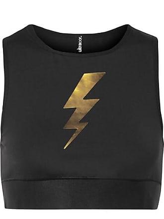 e82739bbed Ultracor Bolt Appliquéd Stretch Sports Bra - Black