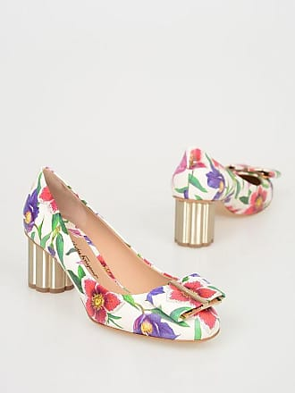 14a8d05e03488 Salvatore Ferragamo 5 cm Floral Printed Leather CAPUA 55 Pumps size 6