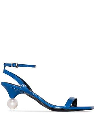 Yuul Yie blue vivi 70 leather sandals