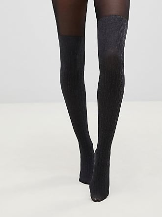 c3d9dff6681 Pretty Polly over the knee secret cable sock tights in marl