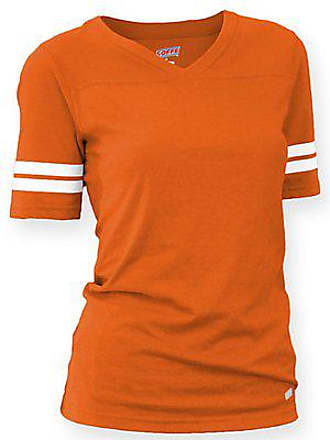 Soffe Womens Juniors Football Tee, Orange, Medium