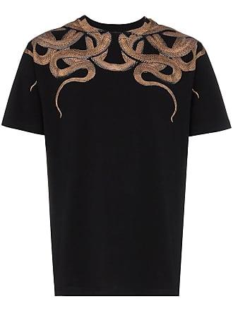 Marcelo Burlon Camiseta com estampa de cobras - Preto