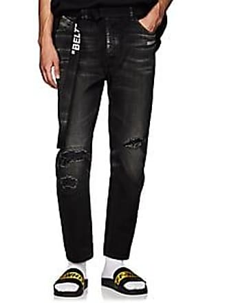 74586951411 Off-white Mens Distressed Skinny Jeans - Black Size 32