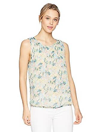 68557bd1bf0f7 Max Studio Womens Print Sleeveless Bubble Top with Pleat Detail