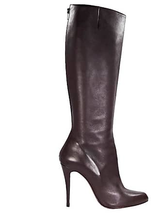 c69e0e445a03 Christian Louboutin Maroon Christian Louboutin Leather Heeled Boots