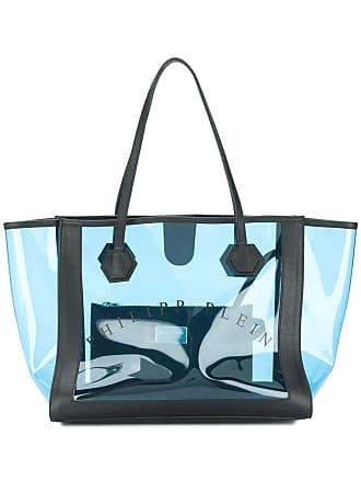 Philipp Plein Bolsa tote transparência - Azul