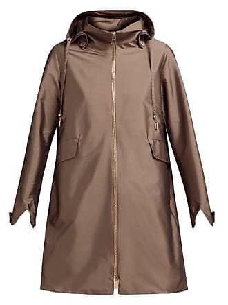 Herno Drawstring Waist Hooded Coat - Womens - Bronze