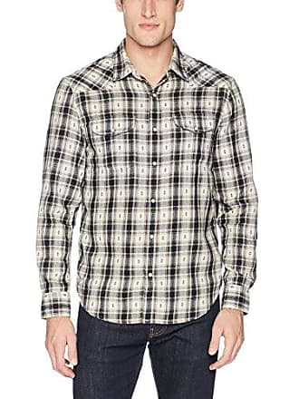 95367d3090 Lucky Brand Mens Casual Long Sleeve Dobby Western Button Down Shirt