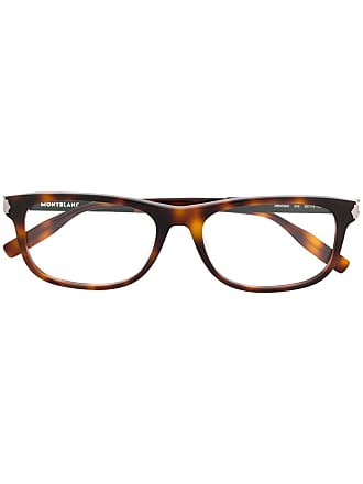 Montblanc rectangular frame glasses - Brown