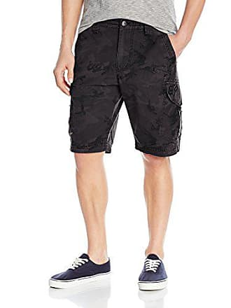 Fox Mens Slambozo Standard Fit 22 Canvas Cargo Short, Black Camo, 29