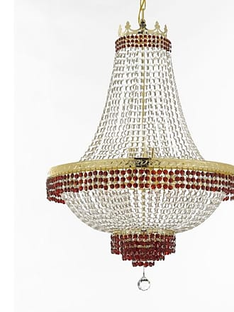 Gallery T22-2274 14 Light 30 Wide Crystal Empire Chandelier with Red