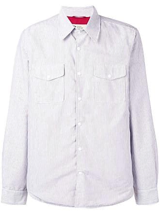 Aspesi Camisa listrada - Branco