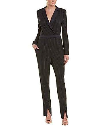 Bcbgmaxazria Womens Faux Wrap Pinstripe Jumpsuit, Pacific Blue Combo, L