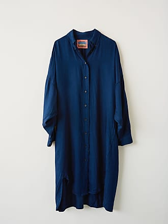 Acne Studios BK-WN-DRES000013 Indigo blue Long sleeve shirt dress