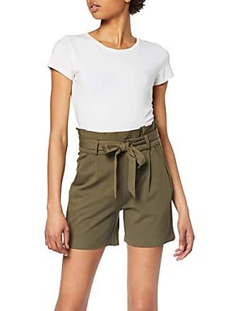 8bc0bd46db Vero Moda Vmeva HR Paperbag Shorts Color, Vert Ivy Green, 38 (Taille  Fabricant