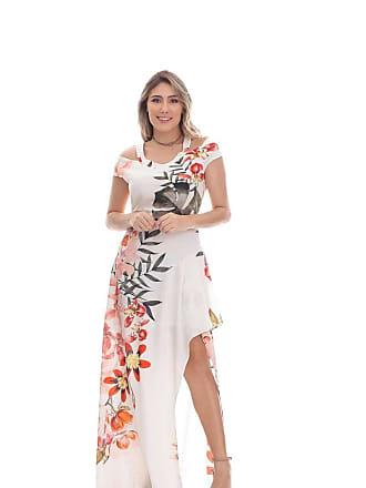 Clara Arruda Vestido Clara Arruda Longo Ombro Decote 50409 - P - Floral Print