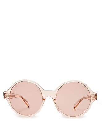 682ca44a6560 Celine Oversized Round Acetate Sunglasses - Womens - Light Pink