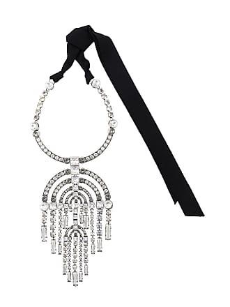 Lanvin oversized embellished necklace - Silver