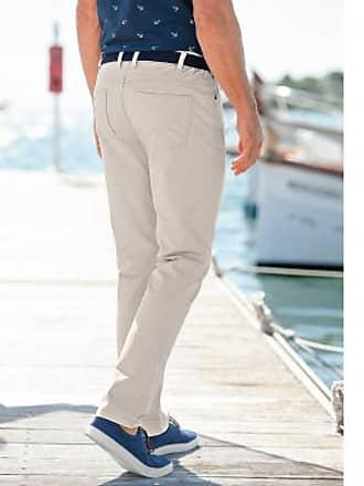 Blancheporte Pantalon droit 5 poches twill coton extensible - beige c55a3751d477