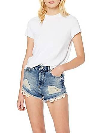 6c047d5d727 Superdry Eliza Cut Off Short Pantalones Cortos, Azul (Rodeo Lace Wash G2r),