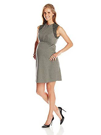 098c8d021d9e4 Maternal America Womens Maternity Front Zip Dress, Herringbone/Olive Space  Dye Large