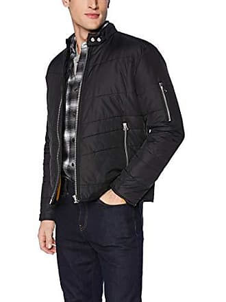 William Rast Mens Oz Moto Puffer Jacket, Stretch Limo Medium