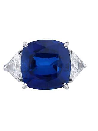 Fantasia Sapphire Cushion Cut Ring 14kt White Gold - UK I 1/2 - US 4 1/2 - EU 48 1/2