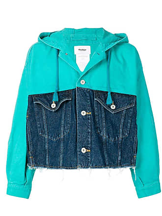 Doublet two-tone denim jacket - Blue