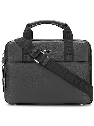 ca1e4a57e3 Givenchy Bolsa para notebook de couro com logo - Preto