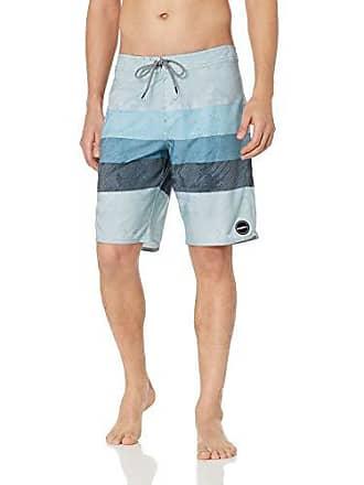 O'Neill Mens 20 Inch Outseam Ultrasuede Swim Boardshort, Grey/Region, 36