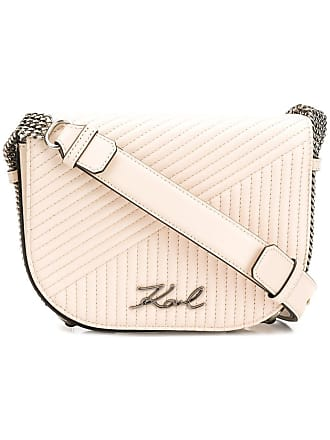Karl Lagerfeld Bolsa de couro matelassê K/Signature - Neutro