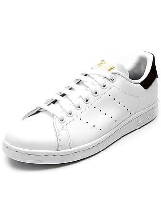 12ef8a3b3cc7 adidas Originals Tênis Couro adidas Originals Stan Smith J Branco Preto