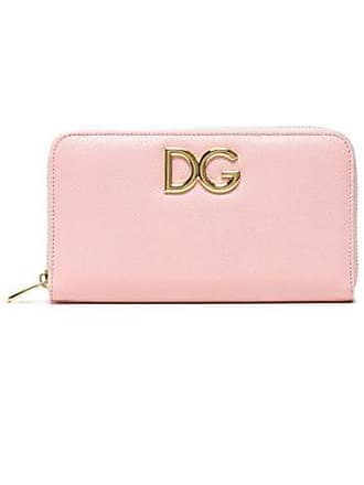 e702c41504 Dolce & Gabbana Dolce & Gabbana Woman Embellished Textured-leather  Continental Wallet Pastel Pink Size