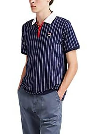 a82adc75 Fila Mens Pinstriped Cotton Polo Shirt - Navy Size M