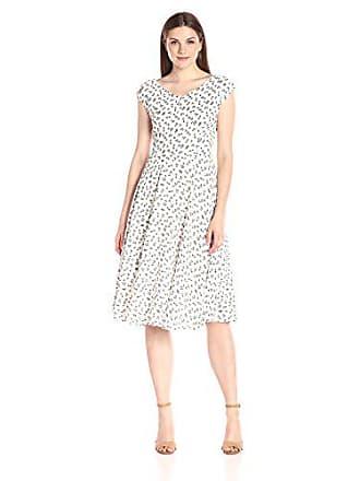 Unique Vintage Womens 1940s Havenhurst Swing Dress, White, X-Small