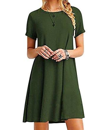 0c3502d14d4e27 Isshe Kurze Kleider Damen T Shirt Kleid Shirtkleid Sommerkleider Kurz  Sommerkleid mit ärmel Shirtkleider Lässige Kurzarm