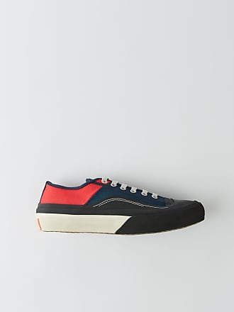 Acne Studios BK-MN-SHOE000008 Blue/red Canvas sneakers