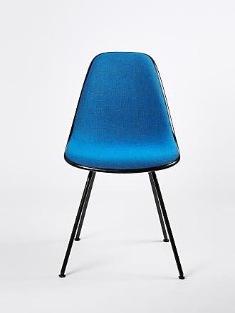 Vitra DSX Plastic Side Chair Chrome Base Hopsak Upholstery