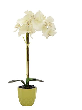Three Hands Faux Orchid in Green Flower Pot - 39267