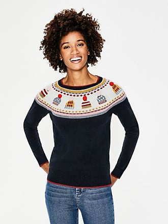 Boden Christmas Fair Isle Sweater Hat Fair Isle Women Boden