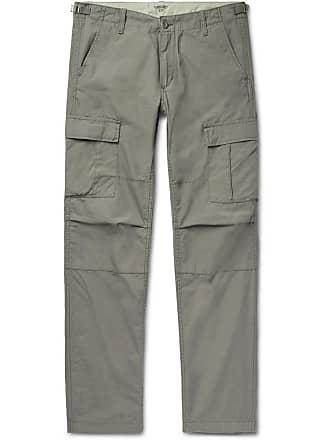 Carhartt Work in Progress Aviation Slim-fit Cotton-poplin Cargo Trousers - Gray