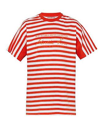 Martine Rose Striped Cotton Jersey T Shirt - Mens - Multi