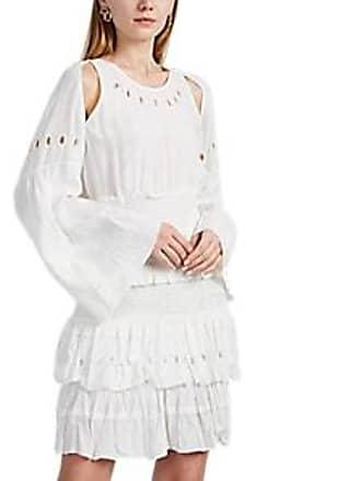 000b124905 Iro Womens Jedway Ruffle Crepe Dress - Cream Size 34