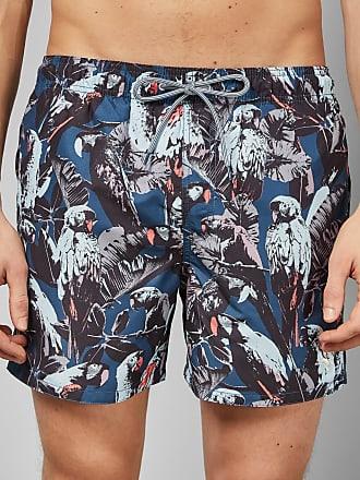 Ted Baker Parrot Print Short Swim Shorts in Teal COASTAL, Mens Clothing
